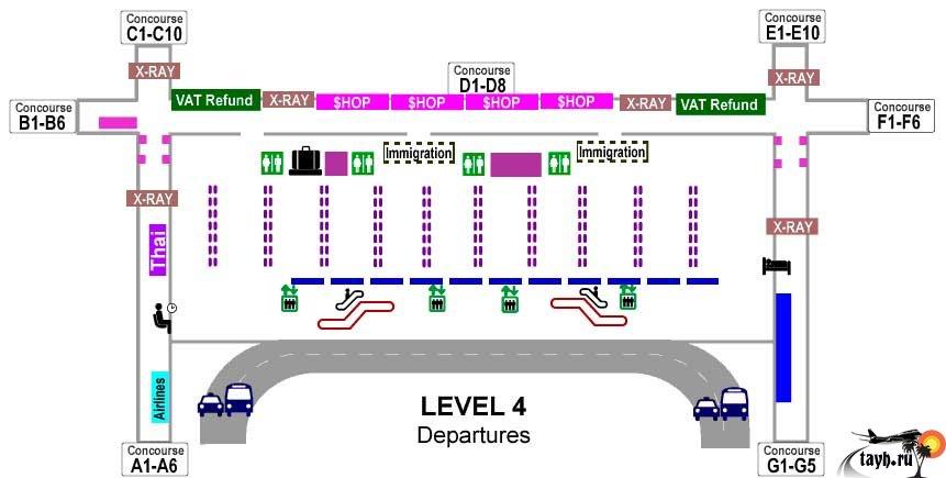 Аэропорт Бангкока Suvarnabhumi