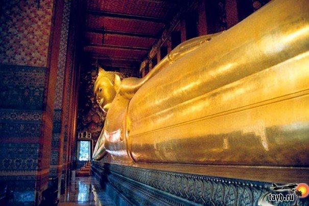 достопримечательности Бангкока.Ват Пхо. Храм лежащего Будды
