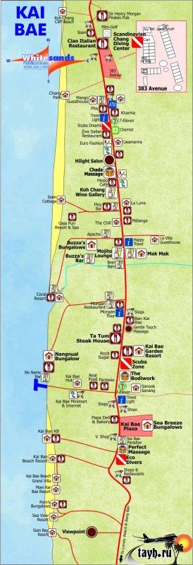 Карта Ко Чанга