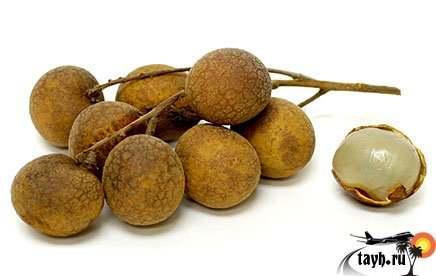 Лонган, фрукты Тайланда