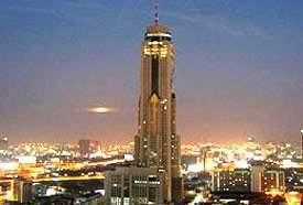 ужин в Baiyoke Sky Hotel Бангкок