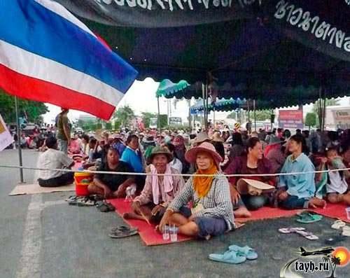 протестующие в Тайланде