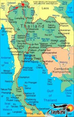 землетрясение Тайланд на карте
