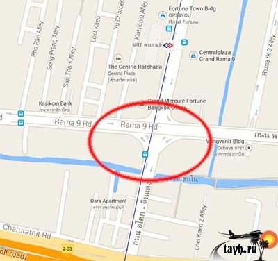 место взрыва Бангкок