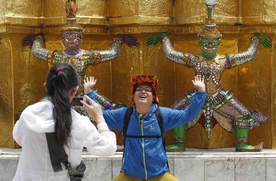туристы в Бангкоке